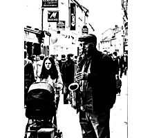 Playing for the Tourists Photographic Print