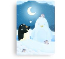 Snow Penguin Metal Print