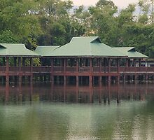 Ninoy Aquino Park and Wildlife Nature Center Lagoon hut by walterericsy