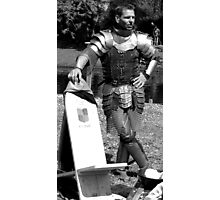 Pondering knight before battle. Photographic Print