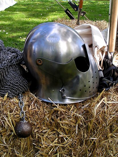 Medieval dented helmet by patjila