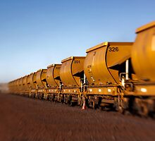 Iron Ore Wagons by Pene Stevens