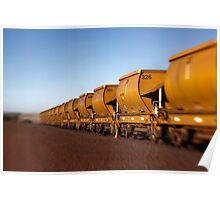 Iron Ore Wagons Poster