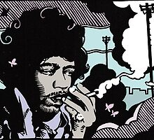 Jimi (in living color) by Damian King