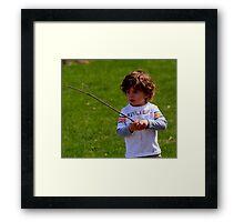 A CHILDS WORLD Framed Print