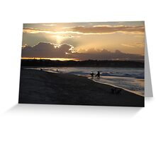 Days end at the beach Greeting Card