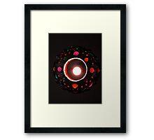 Jeweled Lamp Framed Print