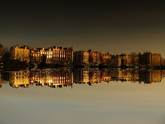 Reflections of Amsterdam - Morning Gold by AmsterSam
