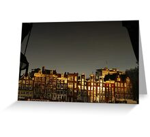 Reflections of Amsterdam - Waves Greeting Card