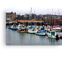 Boats - Scarborough Harbour Canvas Print