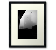 The ghost of Unity House, Hanley, Stoke-on-Trent, Staffordshire, UK.  Framed Print