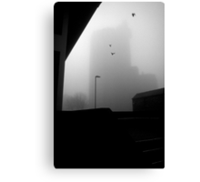 The ghost of Unity House, Hanley, Stoke-on-Trent, Staffordshire, UK.  Canvas Print