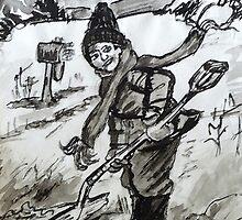 Snow Shoveling  by Monica Engeler