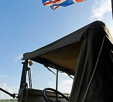 World War 2 Jeep & Union Flag by buttonpresser