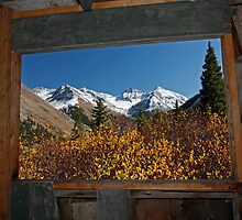 Historic Cabin Window, Animas Forks, Colorado by Mark Bergman