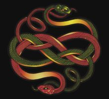Snake knotwork by Lugh  Damen