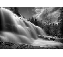 BW Falls Photographic Print