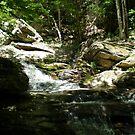 Mountain Waterfall by KarasuHachidori