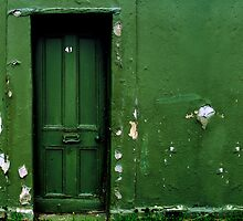 Green door Green wall by Mark Malinowski