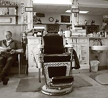 Small Town America VIII~The Barber on Main St. by urmysunshine