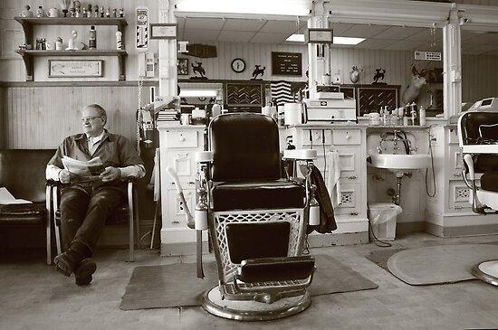 Small Town America VIII~The Barber on Main St. by urmysunshine
