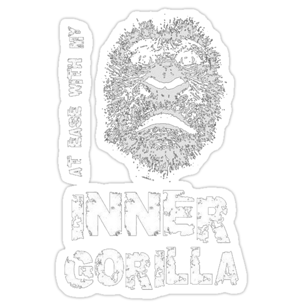 At Ease With My Inner Gorilla by taiche