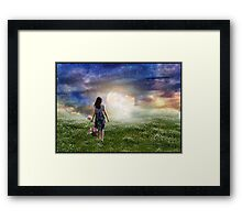 Where The Heavens Meet The Earth Framed Print