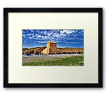 The Tomb of Cyrus The Great - Distance Framed Print