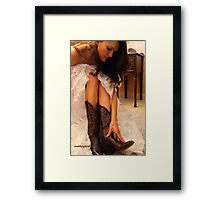 Ladies Western Wear Framed Print