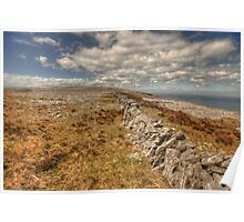 Burren limestone landscape Poster