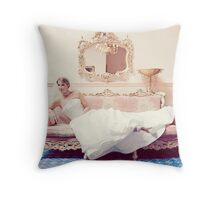 Thoughtful, nervous, excited. Throw Pillow