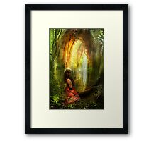 She Prayed with Prayer Framed Print