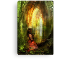 She Prayed with Prayer Canvas Print