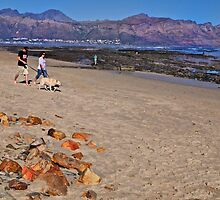 A sunset stroll on Gordon's Bay beach, South Africa by davridan