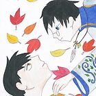 Watanuki and Doumeki by LibraryDrone