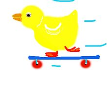 Ducky on skateboard   by Shoshonan