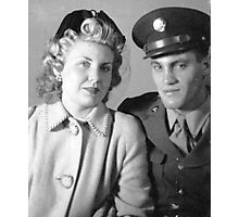 Soldier and His Girl, c.1945 Photographic Print