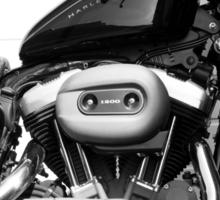 Harley Engine Mashup Sticker