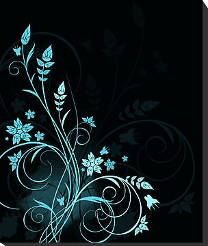 Grunge floral background by Olga Altunina
