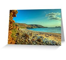 Clonque Bay - Alderny Greeting Card
