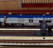Amtrak at Union Station in Los Angeles by Stephen Burke