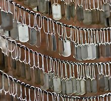 Dog tag memorial by Jeffrey Auger