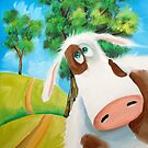 CUTE COW FOLK PAINTING by gordonbruce