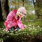 Picking flowers by Anette Tyler