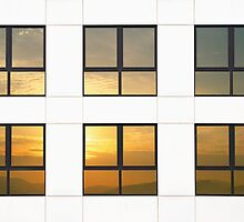 Reflected sunset by iOpeners