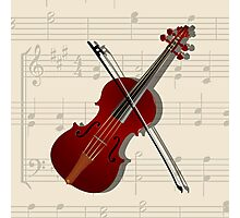 Bow and violin Photographic Print