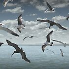 GULLS AND FRIENDS by Paul Quixote Alleyne