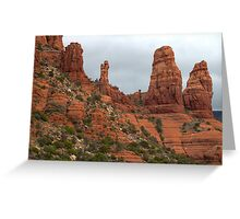 Two Nuns and the Madonna and Child (Sedona) Greeting Card