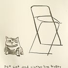 pet cat and laundry trolley sans wheels circa 1974 by donnamalone