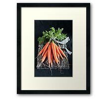 Carrots on Black Framed Print
